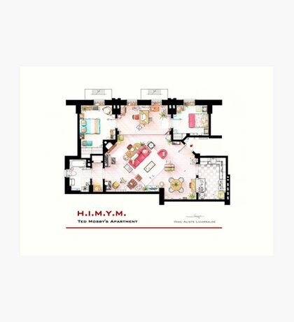 Ted Mosby's apartment from 'HIMYM' Art Print