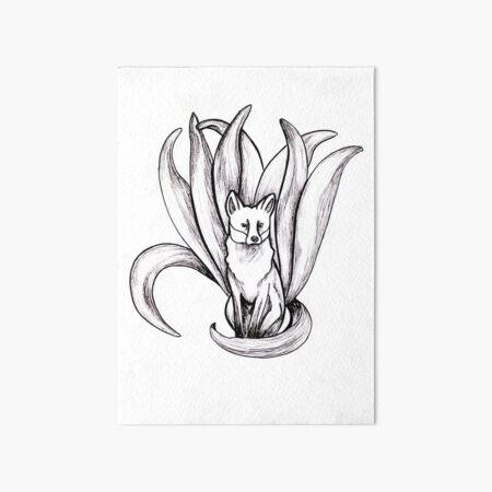Neunschwänziger Fuchs | Kitsune Galeriedruck