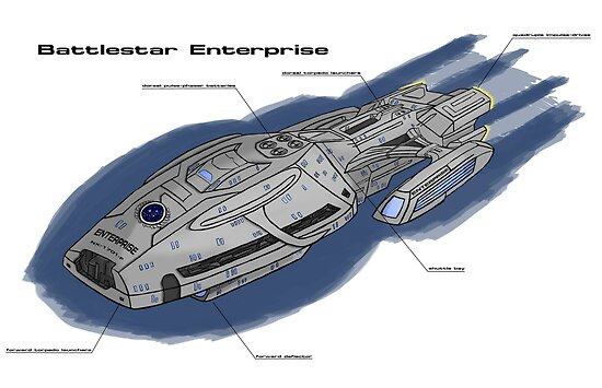 Battlestar Enterprise NX-1701-F by IcarusTyler