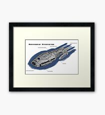 Battlestar Enterprise NX-1701-F Framed Print