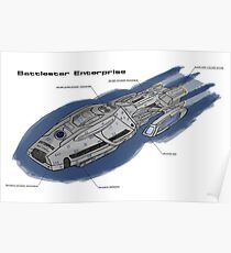Battlestar Enterprise NX-1701-F Poster