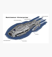 Battlestar Enterprise NX-1701-F Photographic Print
