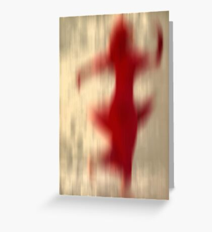 Dancer in red Greeting Card