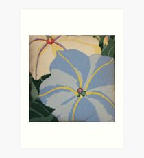 Tropical Blue Flowers Art Print