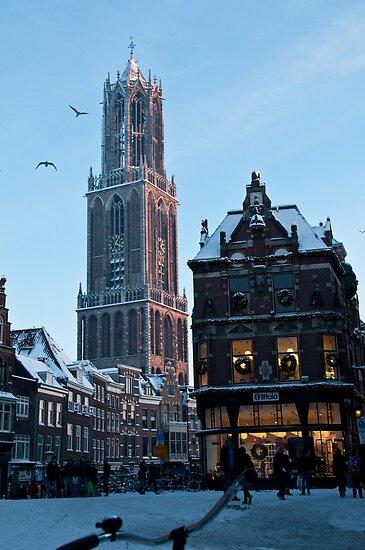 Winter in Holland - Dom Tower Utrecht by ferryvn