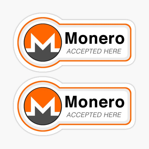 Monero (x2) Accepted Here Sticker