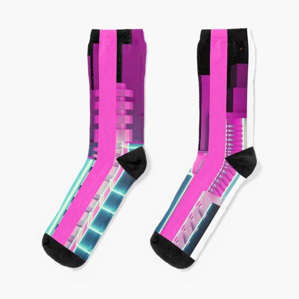 synthwave city 2 Socks