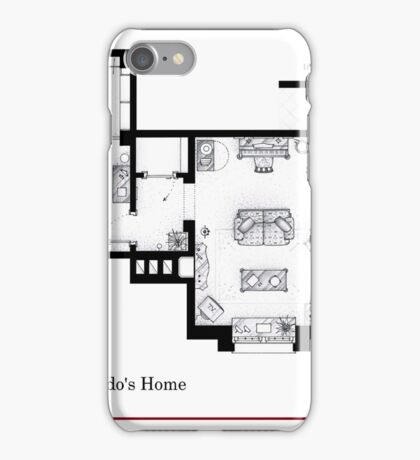 Lucy and Ricky Ricardo's apartment iPhone Case/Skin