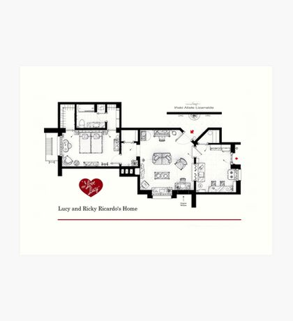 Lucy and Ricky Ricardo's apartment Art Print