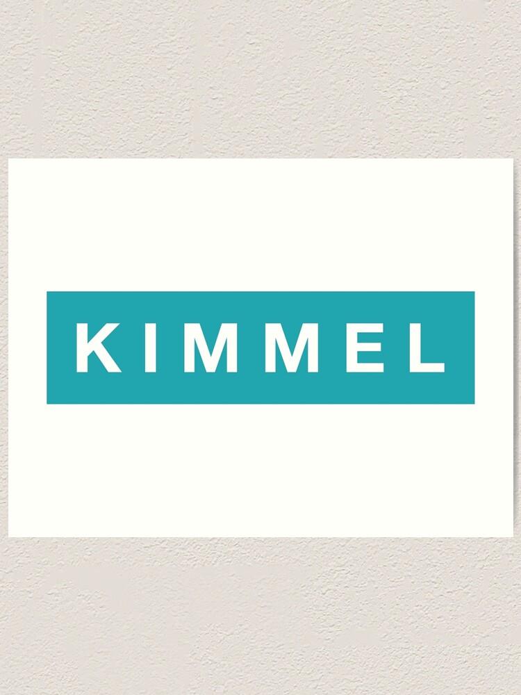 Alternate view of K I M M E L Art Print