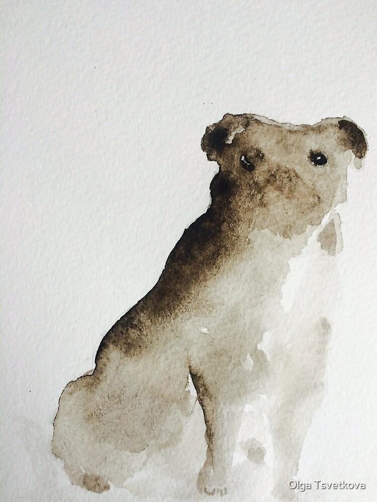 Pug by Olga Tsvetkova