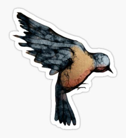 A Bird on the Heart Sticker