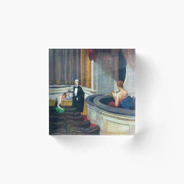 Two on the Aisle-Edward Hopper Acrylic Block