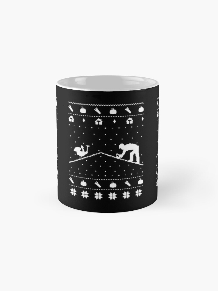 Alternate view of Ugly Christmas Sweater Thanksgiving Roofer Novelty Gift. Mug