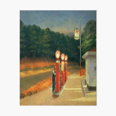Gas-Edward Hopper Art Board Print