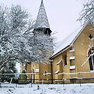 stapleford church in the snow by papillonman