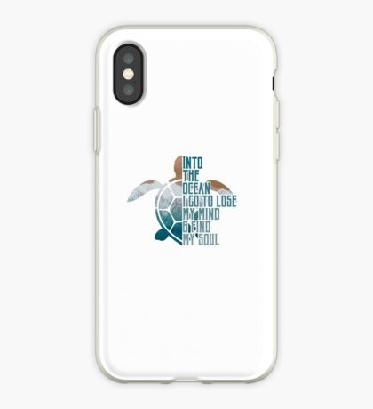 Into the Ocean, I go to lose my mind & find my soul iPhone Case