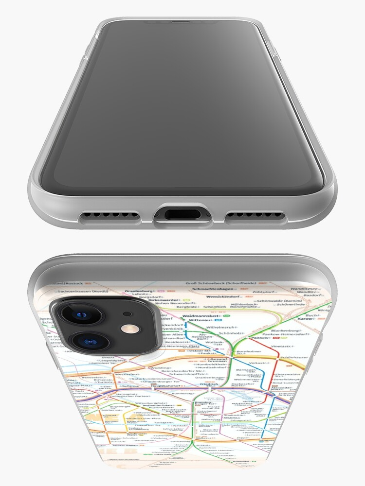 Alternate view of New Berlin rapid transit route map (August 4, 2019) iPhone Case & Cover