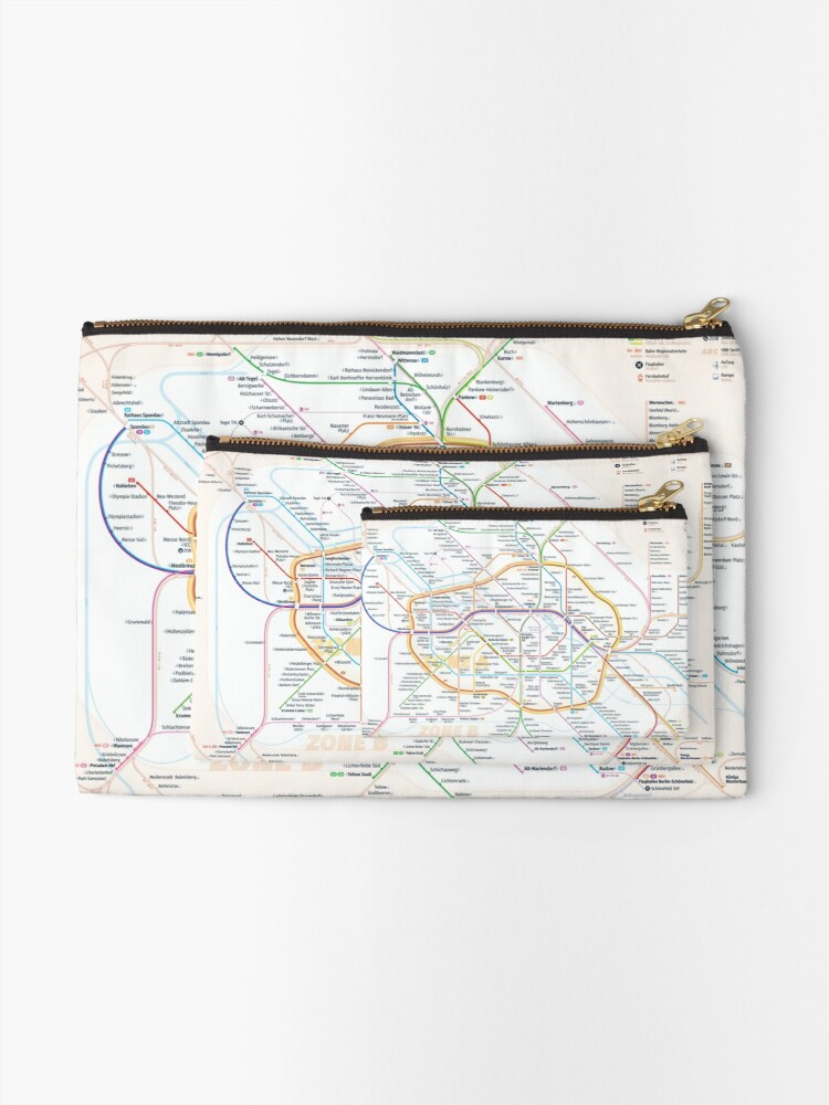 Alternate view of New Berlin rapid transit route map (August 4, 2019) Zipper Pouch