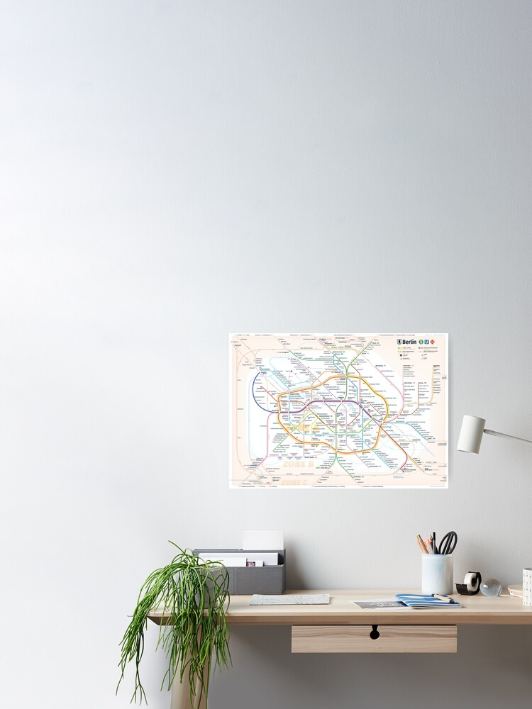 Alternate view of New Berlin rapid transit route map (August 4, 2019) Poster