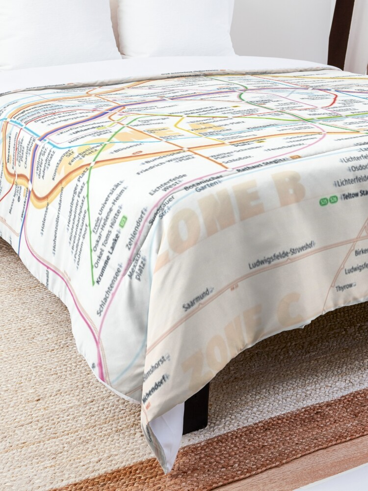 Alternate view of New Berlin rapid transit route map (August 4, 2019) Comforter