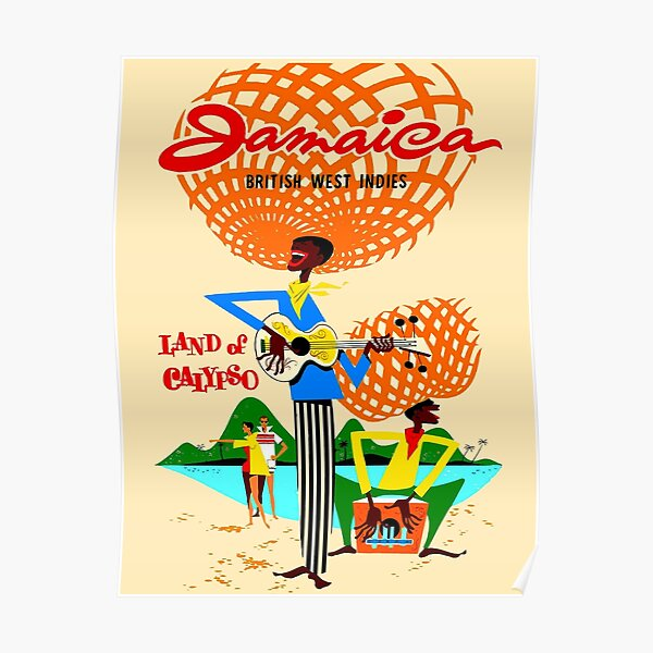 JAMAICA : Vintage 1953 Travel and Tourism Print Poster