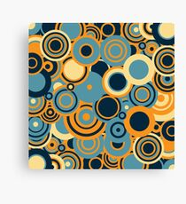 Circledelic - blue/orange Canvas Print