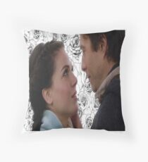 Stable Queen Roses Throw Pillow