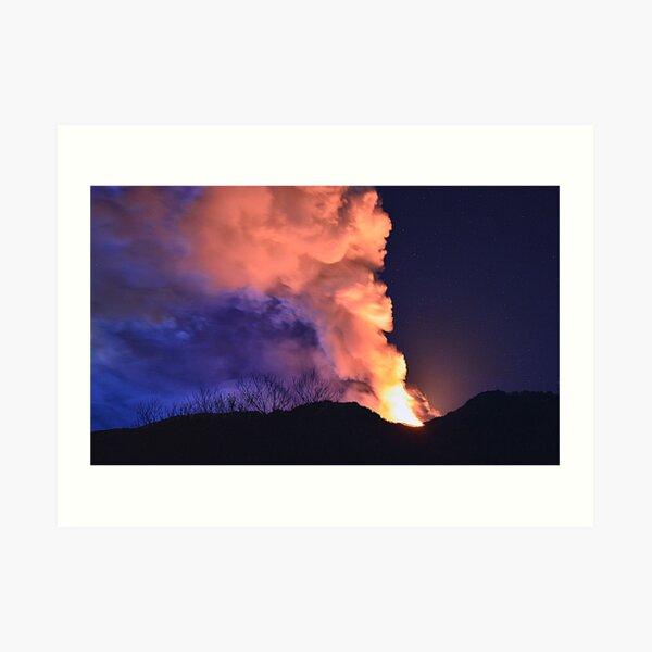 Etna show  Art Print