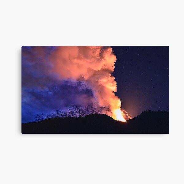 Etna show  Canvas Print