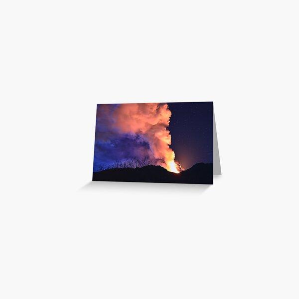 Etna show  Greeting Card