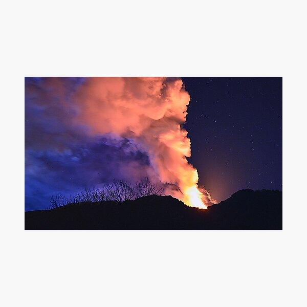 Etna show  Photographic Print