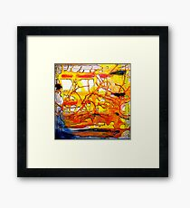 And In The Blue Corner... Framed Print