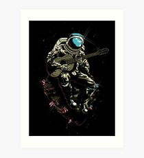 Guitarist Spaceman Art Print