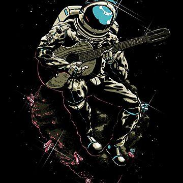 Guitarist Spaceman by enrigabbiadini