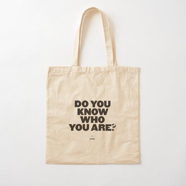 ¿Sabes quién eres? Bolsa de algodón
