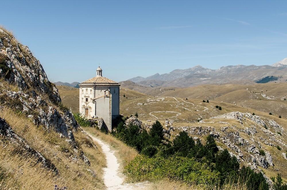 Italian Monuments - In that quiet Earth - Rocca Calascio by Andrea Mazzocchetti