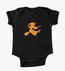 Cute flying witch on a broomstick Kids Clothes