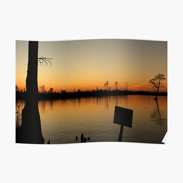 West Landing Marina Sunset Poster