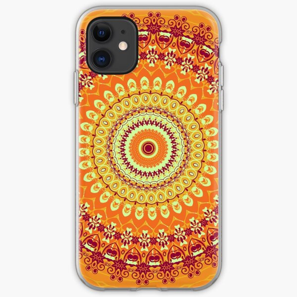 Orange Spice Mandala iPhone Soft Case
