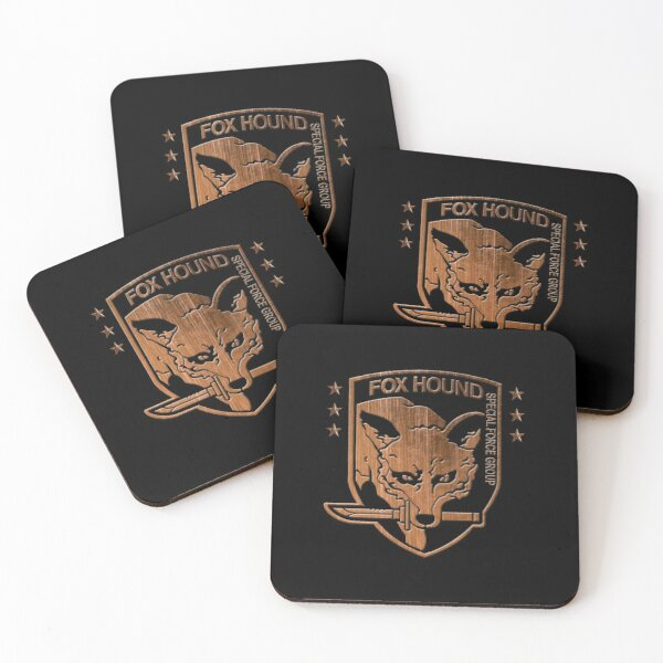 Foxhound Special Forces Group Metal Gear Solid Coasters (Set of 4)