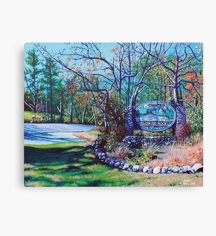 'Welcome to Blowing Rock' Canvas Print