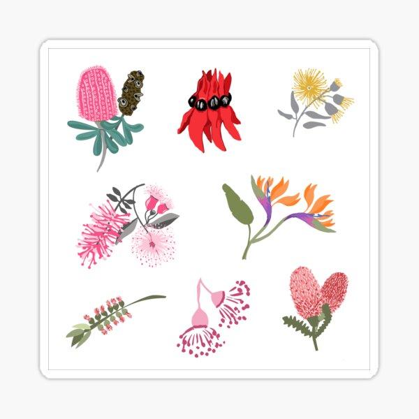 Australian Native FloraSticker Sheet - Aussie Stickers - Mini Floral Stickers Sticker