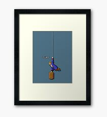 Hanging Pirate Framed Print