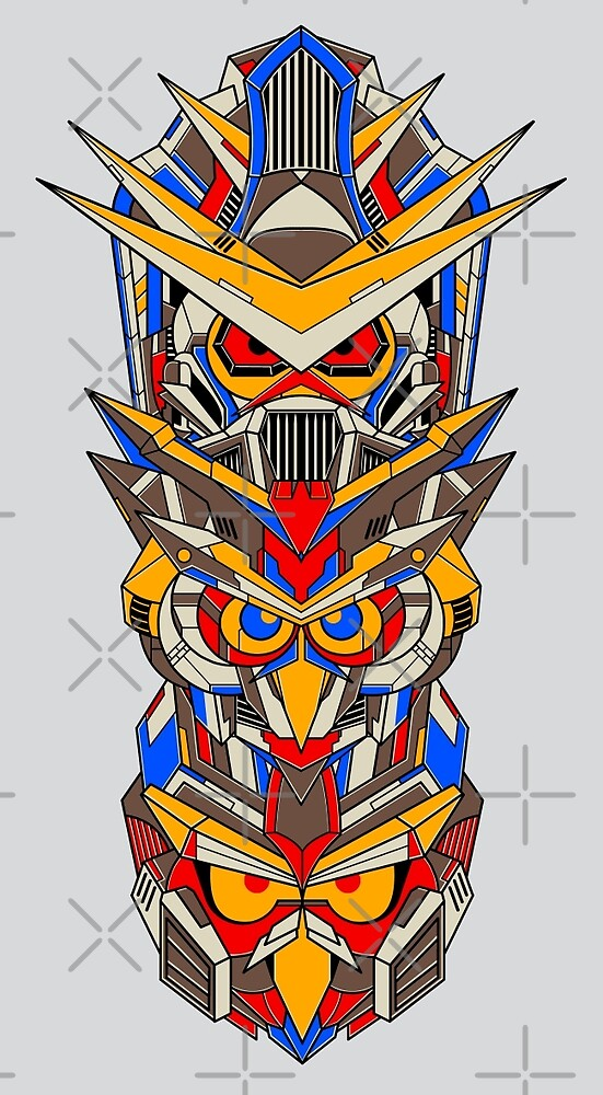 Mecha Totem Pole by GODZILLARGE