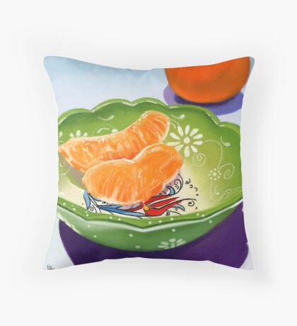 Gift Bowl - pastel painting still life Throw Pillow