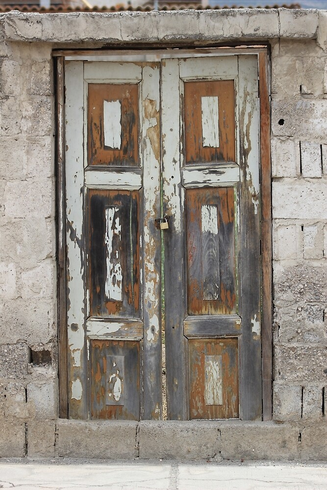 White Weathered Door in a Wall by rhamm