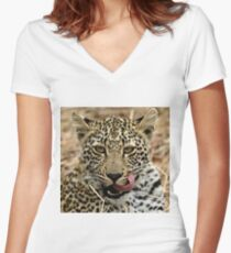 Deliscious ! Women's Fitted V-Neck T-Shirt