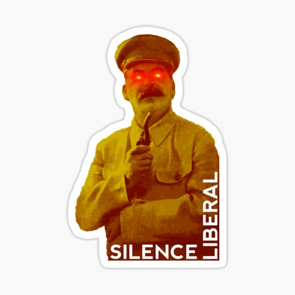 Silence liberal Sticker