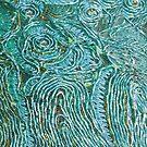«Turquesa Aqua Lace e hilos dorados» de CrazyCraftLady